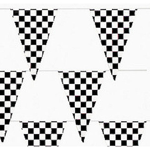 Flag Banner, Black/White Checkered. 12 ft | 1 ct