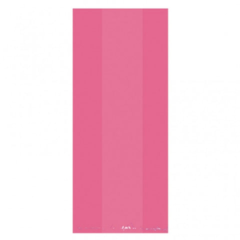 Bright Pink Translucent Party Bags Large | 25ct.
