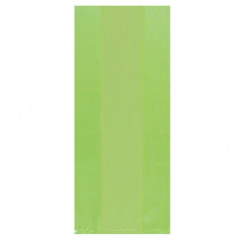 Kiwi Green Translucent Party Bags Small | 25ct.