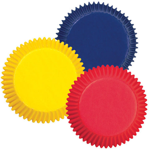 Assorted Mini Primary Colors Baking Cups | 100ct