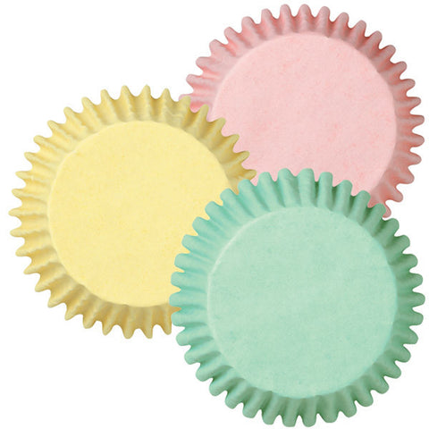 Assorted Mini Pastel Baking Cups | 100ct