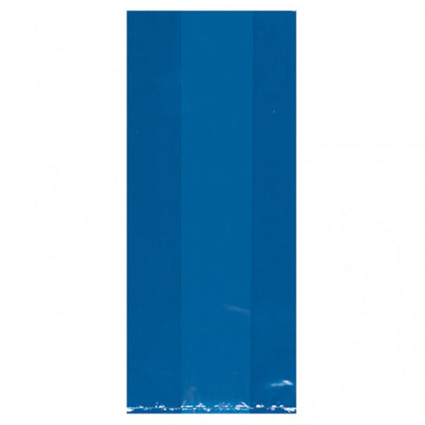 Royal Blue Translucent Party Bags Large | 25ct.