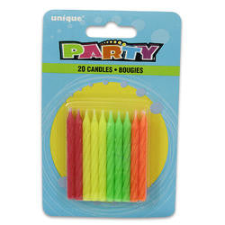 Neon Birthday Candles | 20ct
