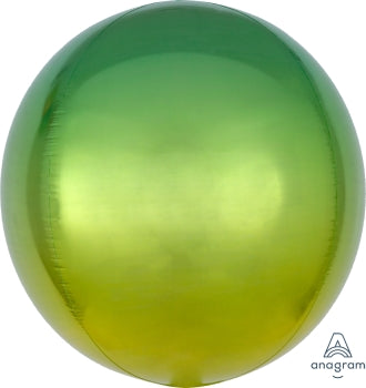 Yellow/Green Ombre Orbz Balloon 15"