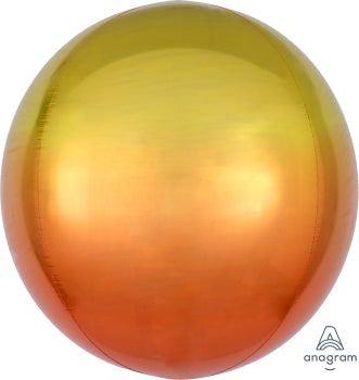 15inch Yellow/Orange Ombre Orbz Balloon|1ct