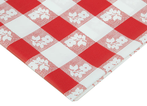 Red Gingham Round Tablecover | 1 ct