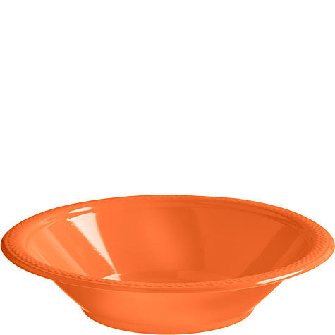 Orange Peel 12 oz. Plastic Bowls | 20ct