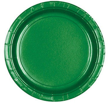 "Festive Green 10.5"" Paper Plates 