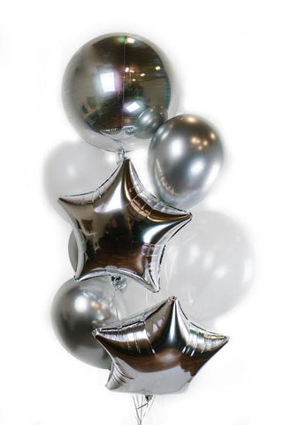 Silver Star Balloon Bouquet
