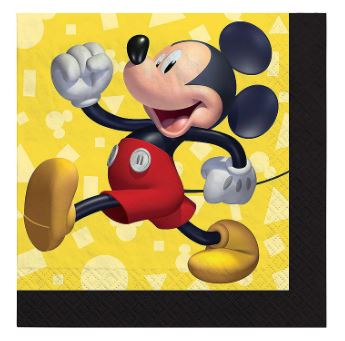 Mickey Mouse Beverage Napkins | 16ct