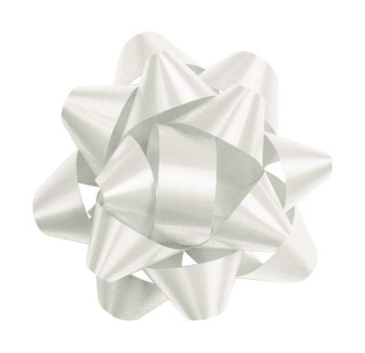 Star Bow, White 3.5"