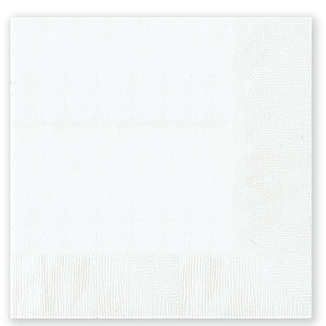 Frosty White Dinner Napkins | 20ct