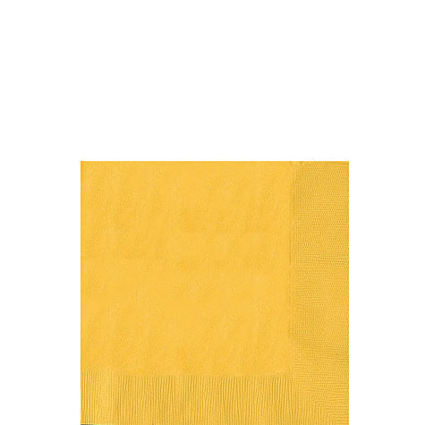 Yellow Sunshine Beverage Napkins | 50ct