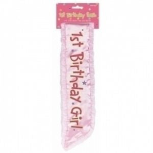 Girl's 1st Bday Sash | 1 ct