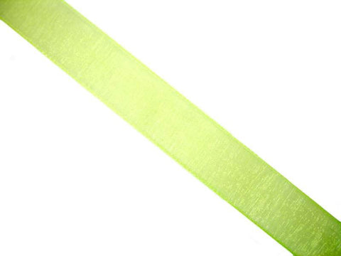 Sheer Lime Green Ribbon | 5/8""