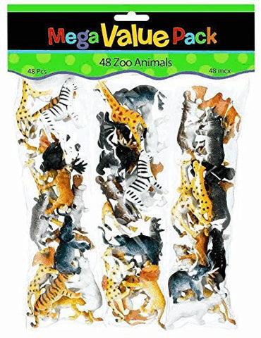 Zoo Animals Pack | 36 ct