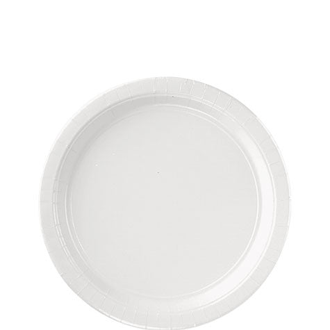 Frosty White 7'' Paper Plates | 20ct