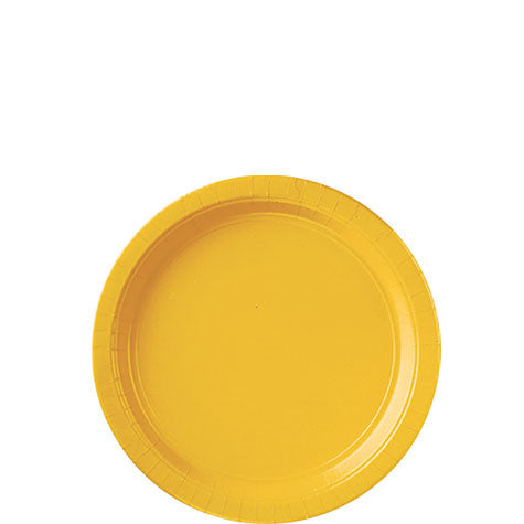 Yellow Sunshine 7'' Paper Plates | 20ct