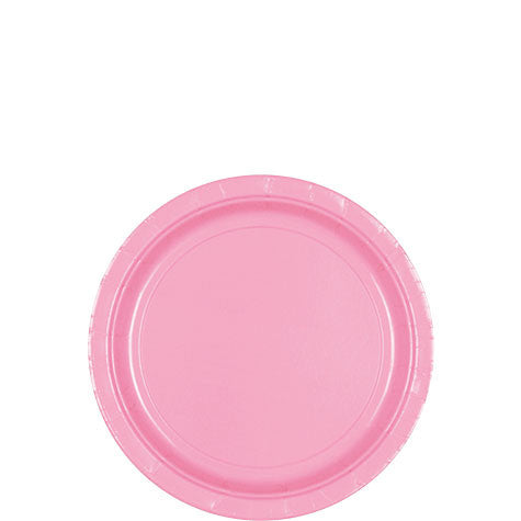 New Pink 7'' Paper Plates | 20ct