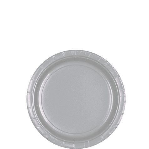 Silver 7'' Paper Plates | 20ct
