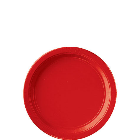 Apple Red 7'' Paper Plates | 20ct