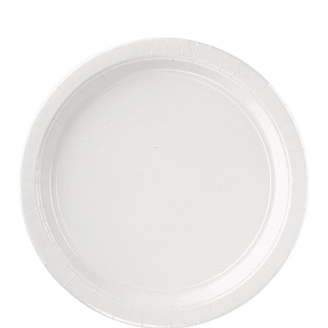 Frosty White 9'' Paper Plates | 20ct