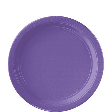 New Purple 9'' Paper Plates | 20ct