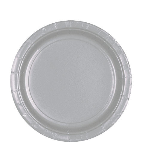 Silver 9'' Paper Plates | 20ct