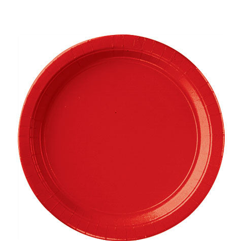 Apple Red 9'' Paper Plates | 20ct