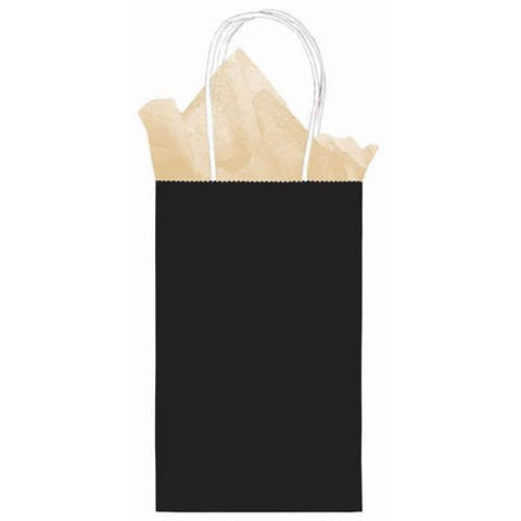 Kraft Cub Small Black Paper Sack | 1ct