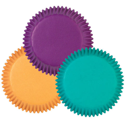 Assorted Jewel Color Mini Baking Cups | 100ct