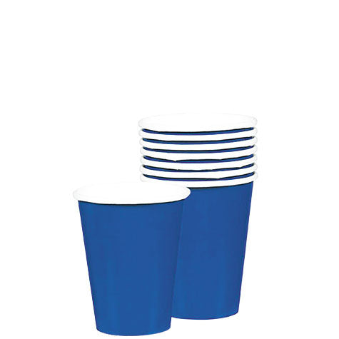 Bright Royal Blue 9 oz. Paper Cups | 20ct