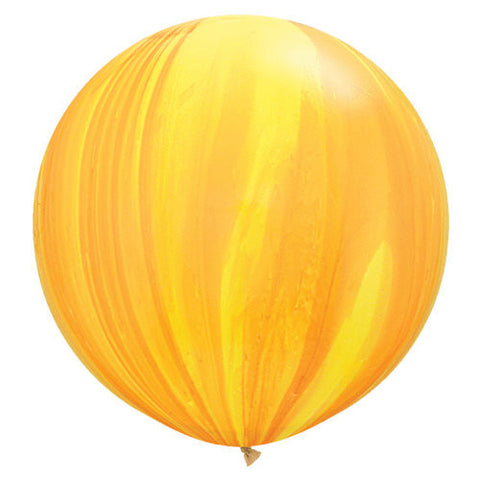 Yellow/Orange Agate Latex Balloons | 36""