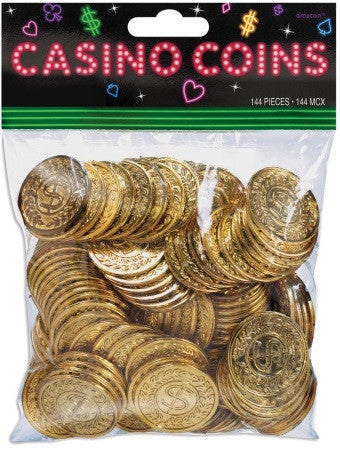 Gold Casino Coins | 144ct