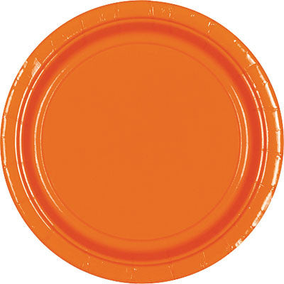 "Orange Peel 10.5"" Paper Plates 