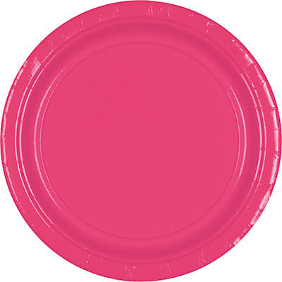"Bright Pink 10.5"" Paper Plates 