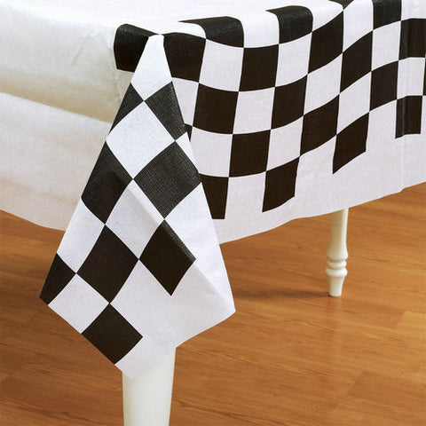 Checkered Flag Plastic Tablecover | 1 ct