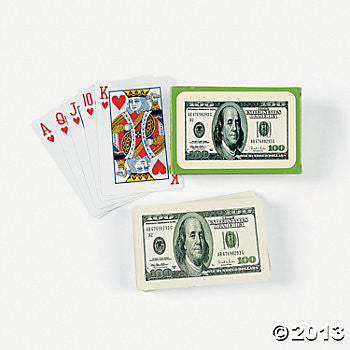 "$100 Bill Playing Cards 2.5"" x 4"" 