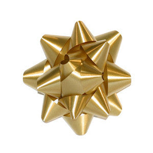 Star Bow, Gold Metallic 3.5"