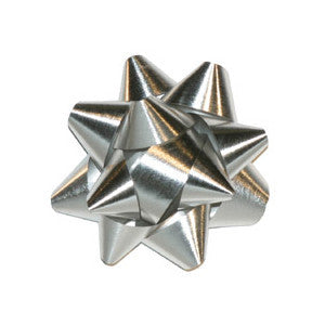 Star Bow, Silver Metallic 3.5"
