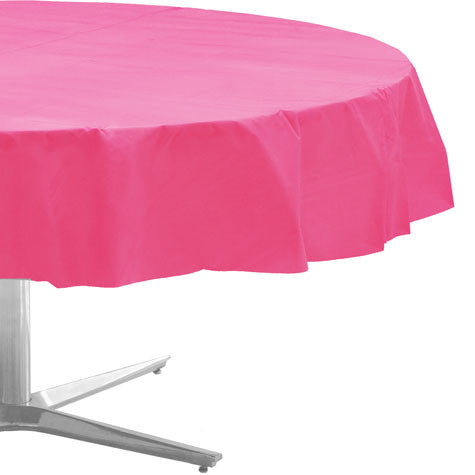 Pink Round Table.Bright Pink Round Table Cloth 1ct 84 Round