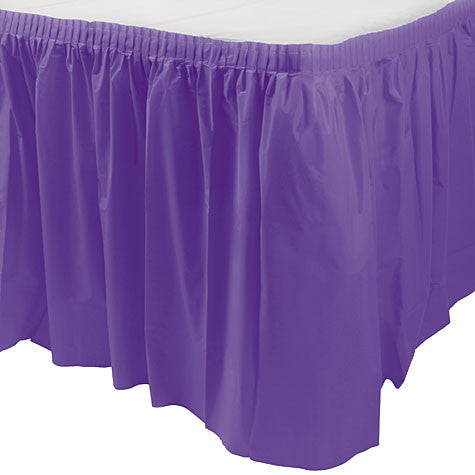 "New Purple Table Skirt | 1ct, 29"" x 168"""