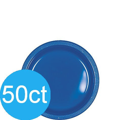"Bright Royal Blue 7"" Plastic Plate 