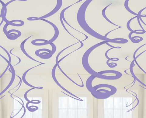 New Purple Swirl Decorations | 12pc, 22""