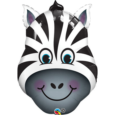 Zany Zebra Shape Balloon, 32'' | 1 ct