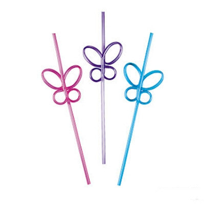Butterfly Crazy Straws | 6ct