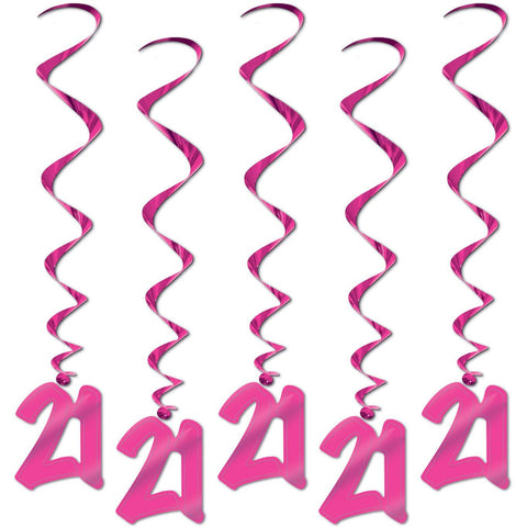 Pink 21 Party Whirls 5ct