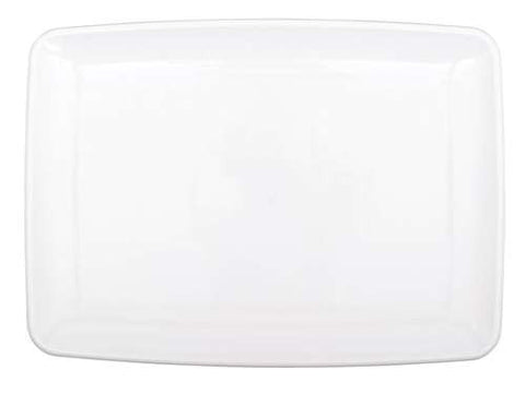 White Plastic Serving Tray, 8'' x 11'' | 1 ct