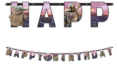 The Mandalorian: The Child Jumbo Birthday Banner Kit | 1kit
