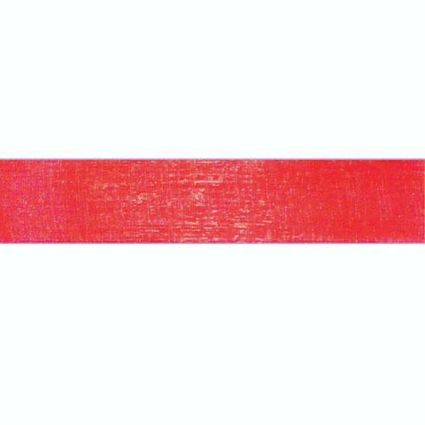 "Sheer Red Ribbon w/satin edge | 1.5"" 25 yds"